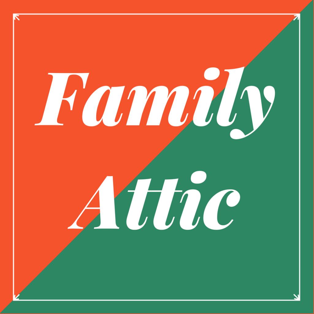 Logo du blog de passionné de brocantes en gironde Family Attic