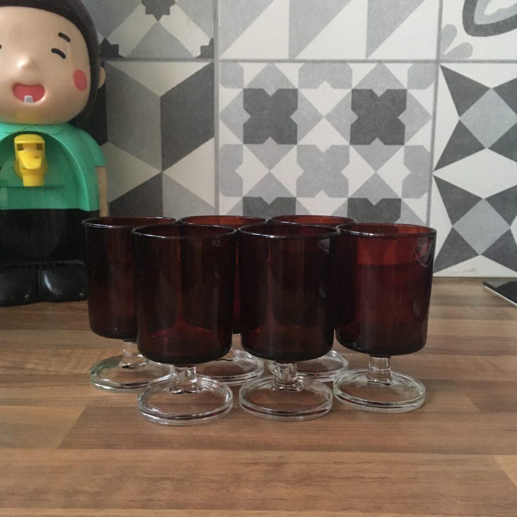 verre cavalier rouge Luminarc 9 cm Gironde