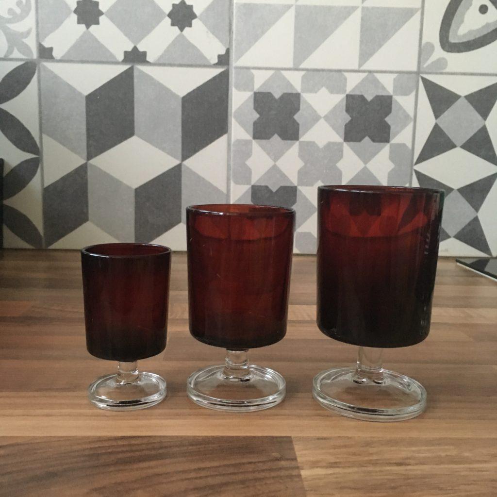 comparatif dimensions verres luminarc rouge rubis cavalier