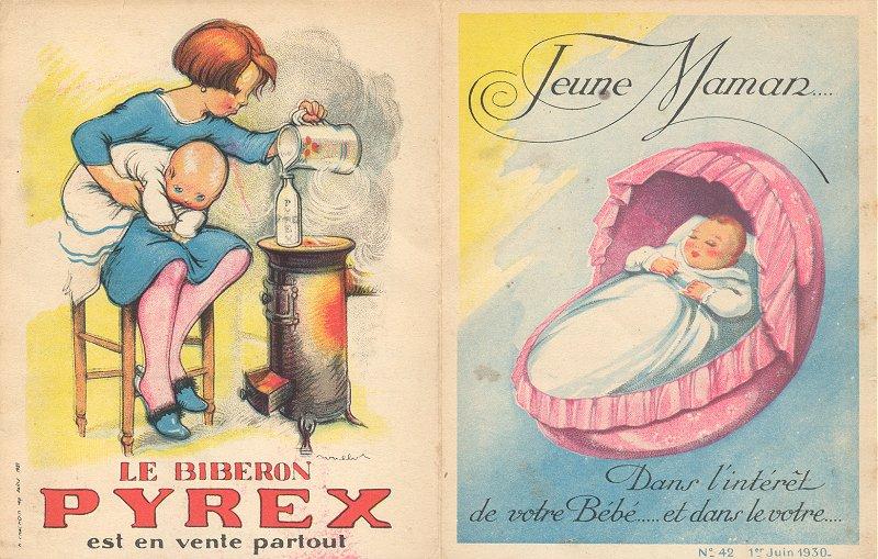 Notice Pyrex l'histoire du biberon