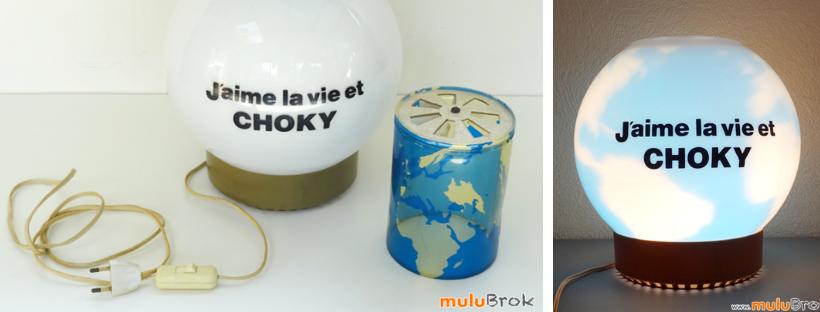 CHOKY lampe globe map monde