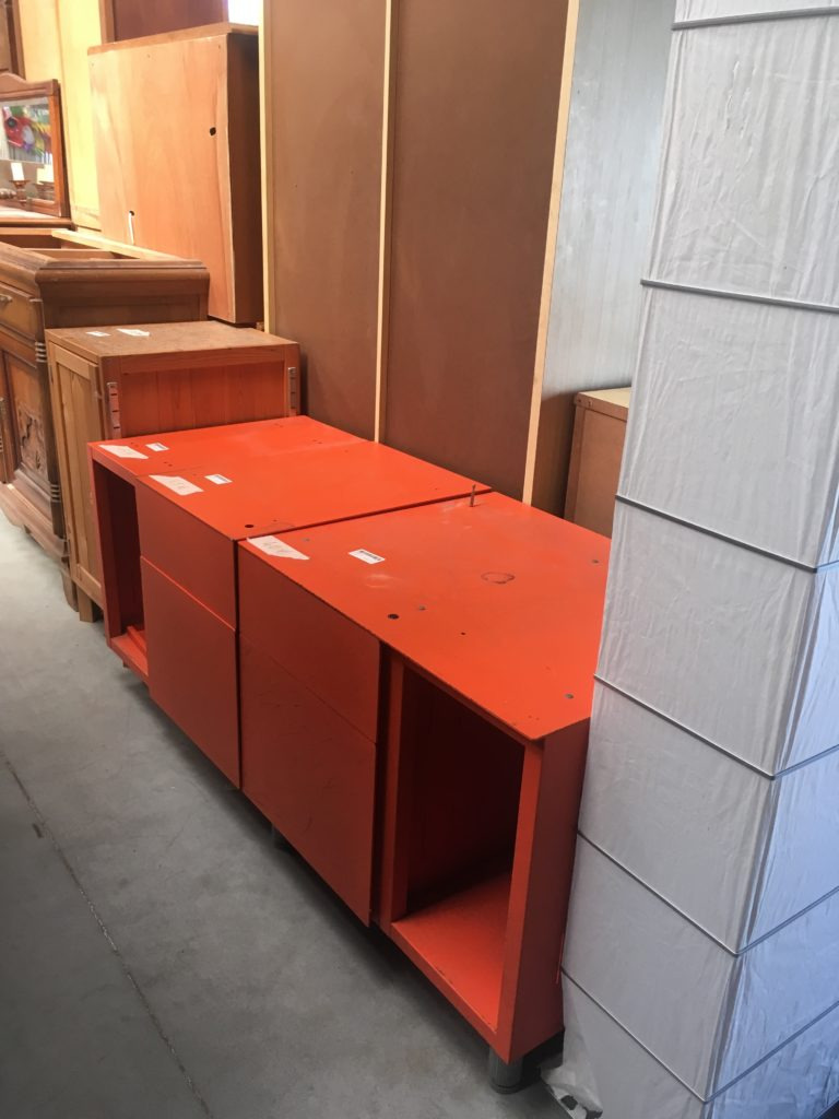 meuble industriel metal orange Bordeaux lac