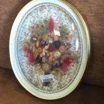 cadre globe fleurs sechées vintage shaby chic cadre doré dordogne