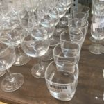 vaisselle recyclage verre à ballon verre cantine empilable
