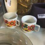 tasses mugs café fleurs vintage seventies dordogne