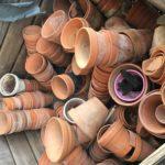 collection de pots en terre cuite jardin Begerac