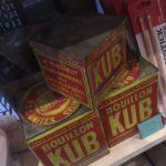 boite Kub Or Puits d'amour vintage bordeaux