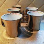 Choky tasse évasée couleur métal