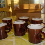 Choky tasse marron intérieur blanc inscription choky en plusieurs couleurs