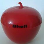 SHELL seau à glacon vintage pomme rouge