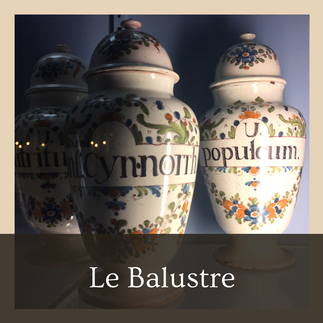 Le balustre - pot d'apothicaire bordeaux