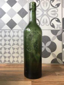 bouteille bière vintage verte glacières du touquet J alcover