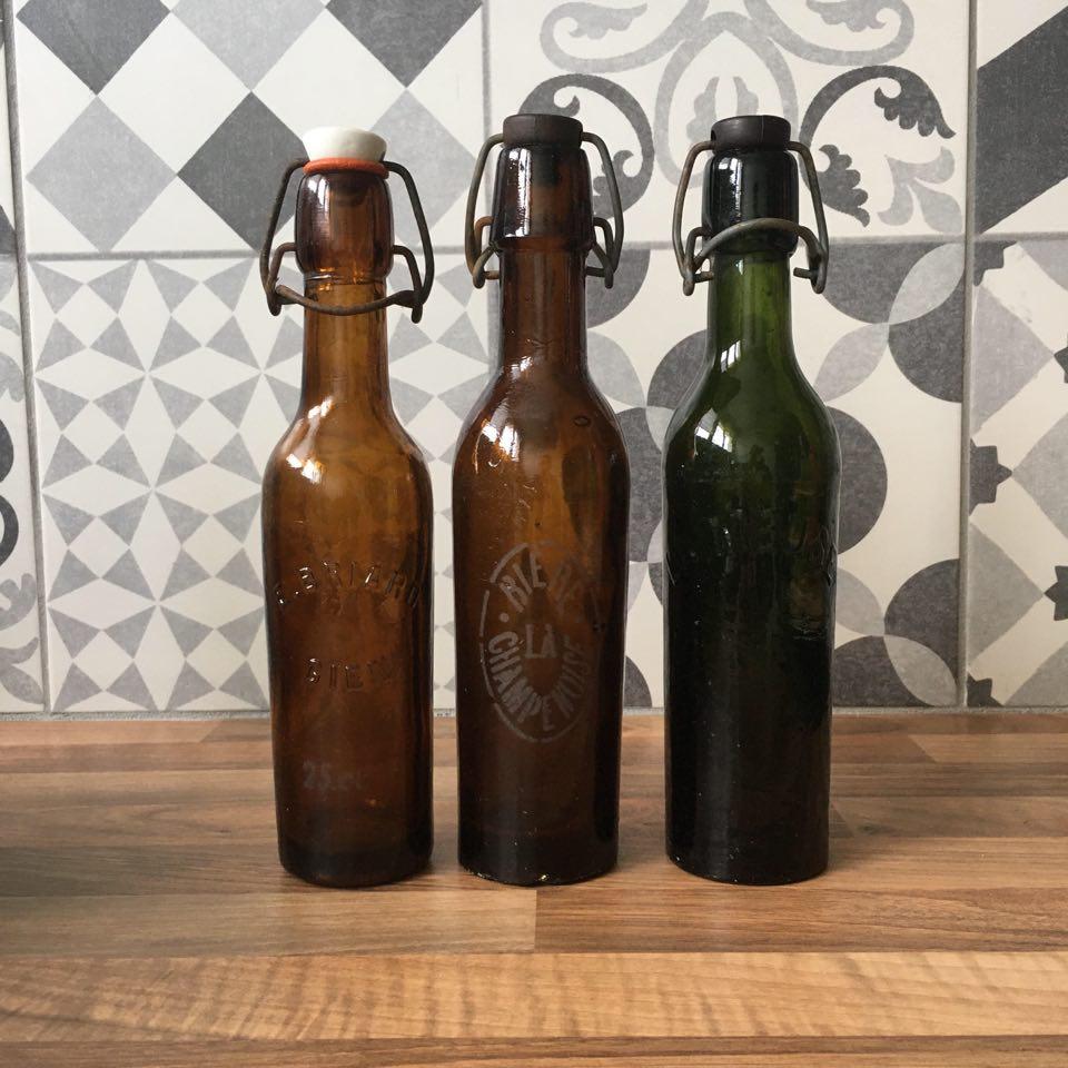 bouteille de biere vintage miniature 25cl francaises