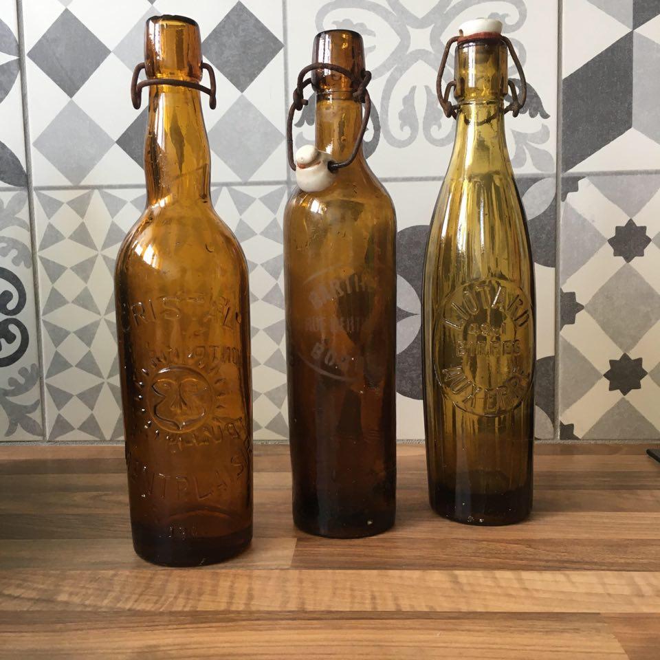 bouteiille vintage biere couleur ambre