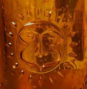 Soleil bouteille de biere vintage montplaisir