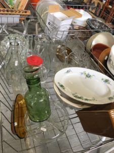 carafe en verre bullé vert St macaire Partage sans frontière