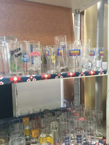 verres de bar vintage St macaire ou chiner en gironde 33