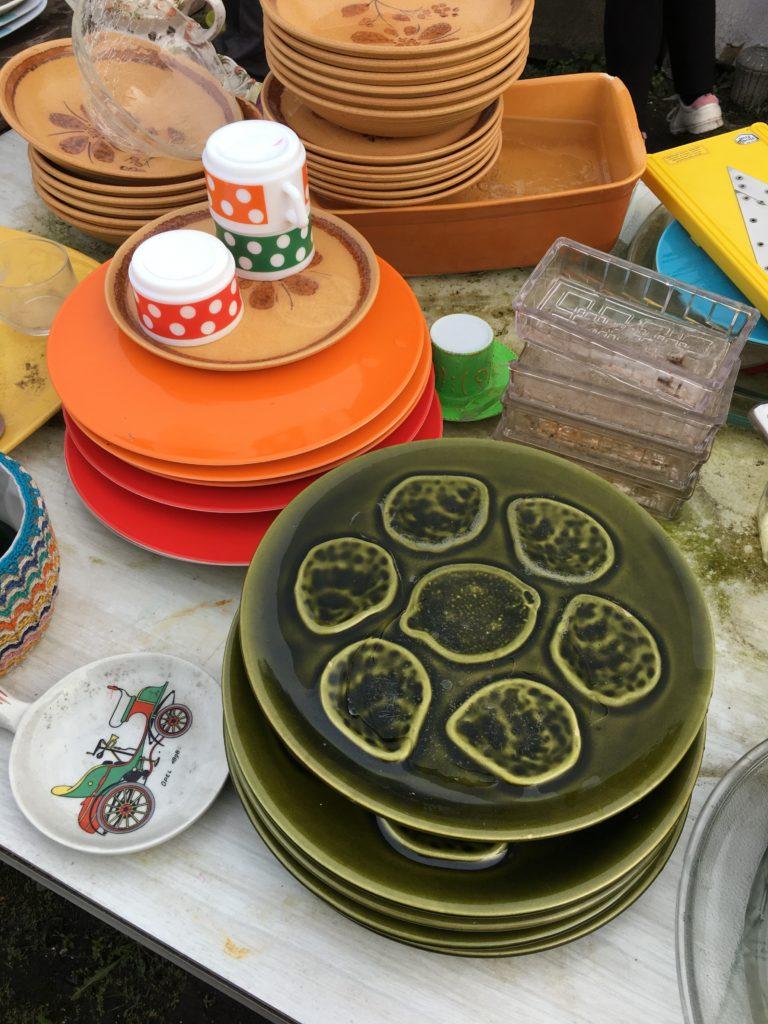vaisselle style barbotine emmaus bazas