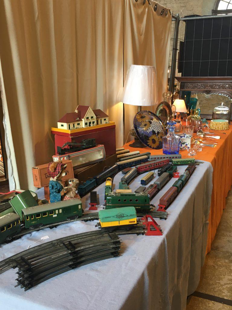 evenement brocante Libourne train vintage