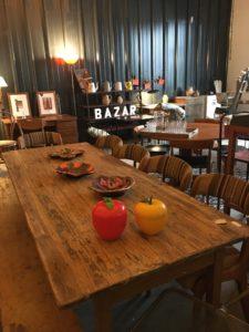 Bazar vagabond brocante table de ferme et pomme glaçon vintage bouliac Bordeaux