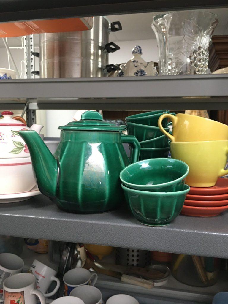 service a thé vert emeraude vintage Langon