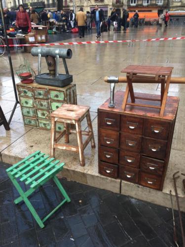 meuble de métier ancien restauré à tiroirs gironde Bordeaux St Michel